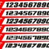 Scritta Font Numero