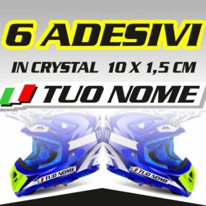 Grafiche MX | Adesivi Motocross | Enduro - Nome con bandierina