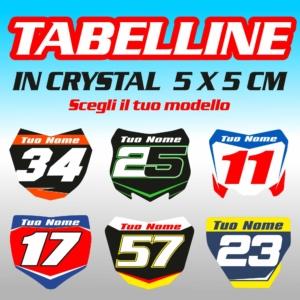 Grafiche MX | Adesivi Motocross | Enduro - Tabelline Miniature Personalizzate