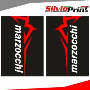 Grafiche Forcella | Adesivi per Forcella Motocross | Enduro - MARZOCCHI - FONDO NERO
