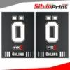 Grafiche Forcella | Adesivi per Forcella Motocross | Enduro - OHLINS - EFFETTO CARBONIO