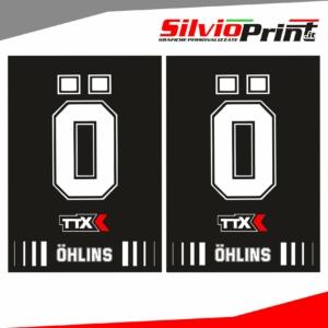 Grafiche Forcella | Adesivi per Forcella Motocross | Enduro - OHLINS - FONDO NERO