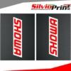 Grafiche Forcella | Adesivi per Forcella Motocross | Enduro - SHOWA - EFFETTO CARBONIO