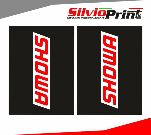 Grafiche Forcella | Adesivi per Forcella Motocross | Enduro - SHOWA - FONDO NERO