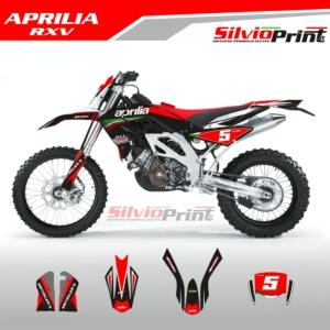 Grafiche MX | Adesivi Motocross | Enduro - APRILIA RXV - BLACK