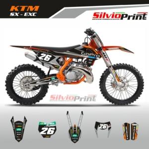 Grafiche MX | Adesivi Motocross | Enduro - KTM SX EXC SX EXCF - BLACK