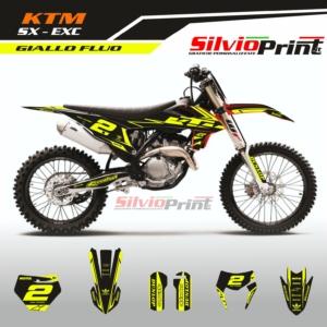 Grafiche MX   Adesivi Motocross   Enduro - KTM SX SXF EXC EXCF - FLUO