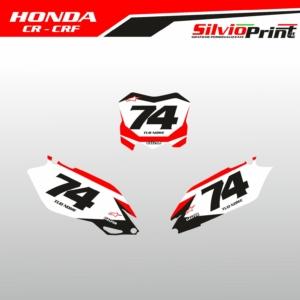 Grafiche MX | Adesivi Tabelle Porta Numero Motocross | Enduro - HONDA CRF CR - RACE