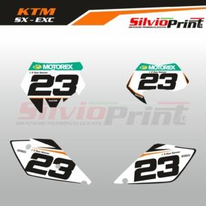 Grafiche MX | Adesivi Tabelle Porta Numero Motocross | Enduro - KTM SX SXF EXC EXCF - PRO