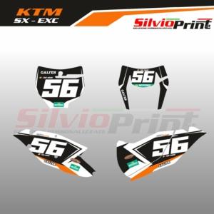 Grafiche MX | Adesivi Tabelle Porta Numero Motocross | Enduro - KTM SX SXF EXC EXCF - BASE
