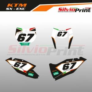 Grafiche MX | Adesivi Tabelle Porta Numero Motocross | Enduro - KTM SX SXF EXC EXCF - ITA