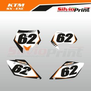 Grafiche MX | Adesivi Tabelle Porta Numero Motocross | Enduro - KTM SX SXF EXC EXCF - ONE