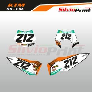 Grafiche MX | Adesivi Tabelle Porta Numero Motocross | Enduro - KTM SX SXF EXC EXCF - STYLE