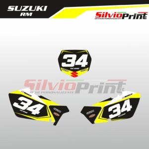 Grafiche MX | Adesivi Tabelle Porta Numero Motocross | Enduro - SUZUKI RM START