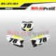 Grafiche MX | Adesivi Tabelle Porta Numero Motocross | Enduro - SUZUKI RMZ WHIP
