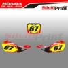 Grafiche MX | Adesivi Tabelle Porta Numero Motocross - HONDA CR - LINE
