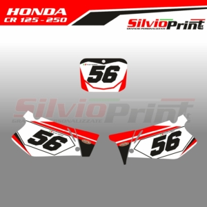 Grafiche MX | Adesivi Tabelle Porta Numero Motocross - HONDA CR - OLD