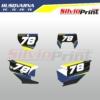 Grafiche MX   Adesivi Tabelle Porta Numero Motocross   Enduro - HUSQVARNA FC TC FE TE - CARBO