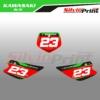 Grafiche MX | Adesivi Tabelle Porta Numero Motocross - KAWASAKI KX - PRO