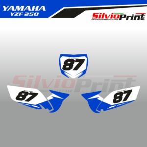 Grafiche MX | Adesivi Tabelle Porta Numero Motocross - YAMAHA YZF 250 - LINE