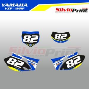 Grafiche MX | Adesivi Tabelle Porta Numero Motocross | Enduro - YAMAHA YZF WRF - PRIME