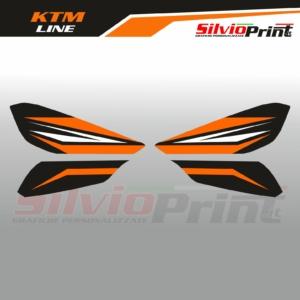 Grafiche MX   Adesivi Paramani Enduro - KTM SX SXF EXC EXCF - LINE