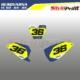 Grafiche MX | Adesivi Tabelle Porta Numero - HUSQVARNA TC 50 65 85 - LINE