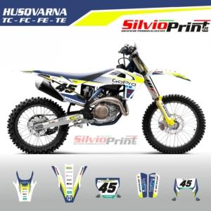 Grafiche MX | Adesivi Motocross | Enduro - HUSQVARNA FC TC FE TE - MAX FLUO