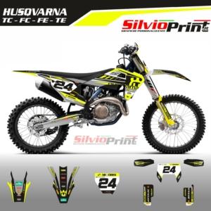 Grafiche MX | Adesivi Motocross | Enduro - HUSQVARNA FE TE TC FC - TOP FLUO