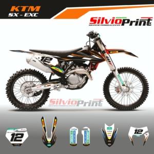 Grafiche MX   Adesivi Motocross - KTM EXC EXCF SX SXF - NIK