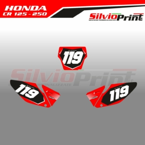 Grafiche MX | Adesivi Tabelle Porta Numero Motocross - HONDA CR 125 - 250 - FIVE