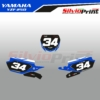 Grafiche MX | Adesivi Tabelle Porta Numero Motocross - YAMAHA YZF - FAST