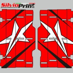 Grafiche MX | Adesivi Alette Radiatori per Motocross - ENDURO - HONDA CR CRF - STAR