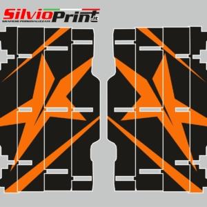 Grafiche MX | Adesivi Alette Radiatori per Motocross - ENDURO - KTM SX SXF EXC EXCF - STAR