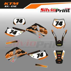 Grafiche MX   Adesivi Motocross - KTM EXC SX - OLD