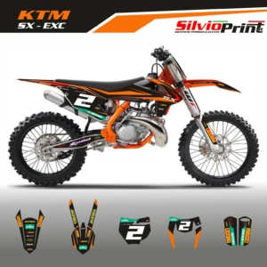 Grafiche MX | Adesivi Motocross - KTM EXC EXCF SX SXF - RED