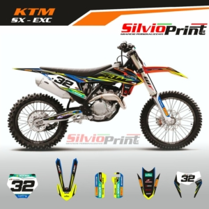 Grafiche MX   Adesivi Motocross - KTM EXC EXCF SX SXF - SPIN