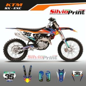 Grafiche MX   Adesivi Motocross - KTM EXC EXCF SX SXF - STARS