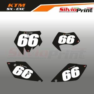 Grafiche MX | Adesivi Tabelle Porta Numero Motocross - Enduro - KTM SX SXF EXC EXCF - EASY