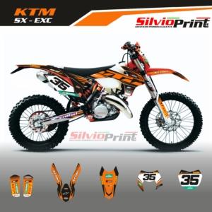 Grafiche MX   Adesivi Motocross - KTM EXC EXCF SX SXF - FLEX