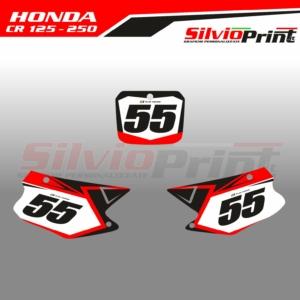 Grafiche MX | Adesivi Tabelle Porta Numero Motocross - HONDA CR - FAST