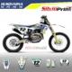Grafiche MX | Adesivi Motocross | Enduro - HUSQVARNA FE TE TC FC - TOP BLU