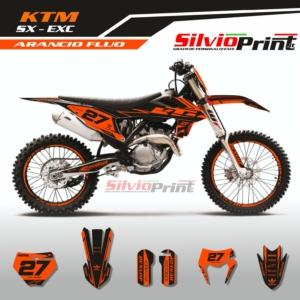 Grafiche MX | Adesivi Motocross | Enduro - KTM SX SXF EXC EXCF - ARANCIO FLUO