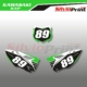 Grafiche MX | Adesivi Tabelle Porta Numero Motocross - KAWASAKI KXF - LINE