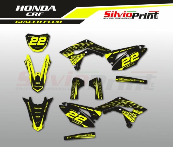 Grafiche MX   Adesivi Motocross - HONDA CRF - FLUO